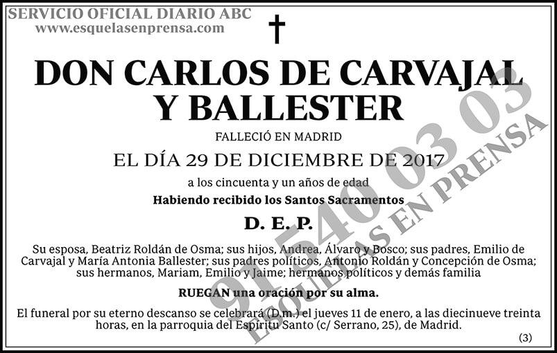 Carlos de Carvajal y Ballester